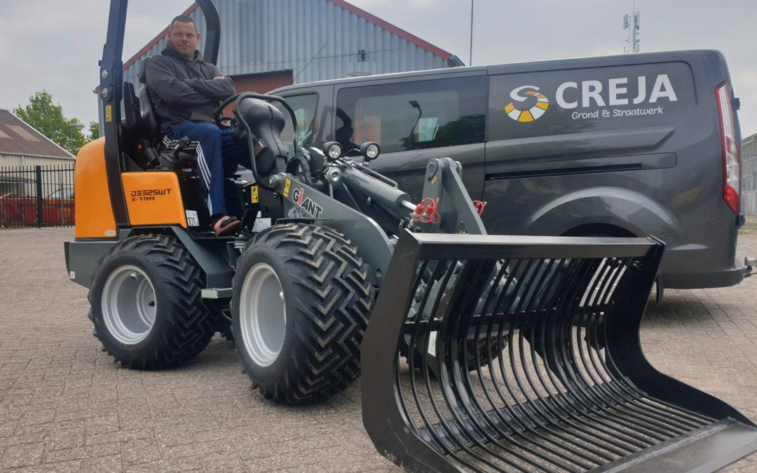 Giant Wiellader voor Creja Grond & Straatwerk