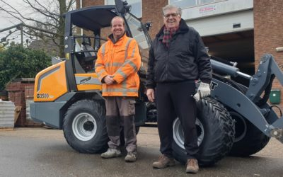 Giant G3500 X-tra wiellader voor Firma Zoon